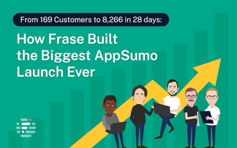 From 169 Customers to 8,266 in 28 Days: How Frase Built the Biggest AppSumo Launch Ever