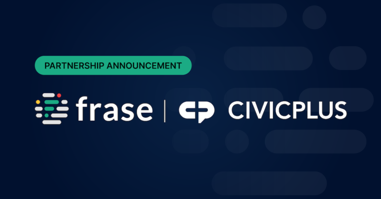 Frase Partners with CivicPlus to Help Local Governments Automate Services to Citizens